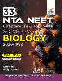 33 Years NEET Chapterwise & Topicwise Solved Papers BIOLOGY (2020 - 1988) 15th Edition Book