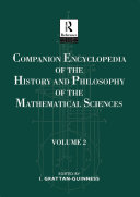 Companion Encyclopedia of the History and Philosophy of the Mathematical Sciences [Pdf/ePub] eBook