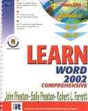 Learn Word 2002 Comprehensive