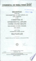 Congressional And Federal Pension Review