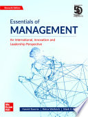 Essentials of Management - An International, Innovation and Leadership Perspective | 11th Edition