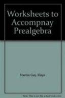 Worksheets to Accompnay Prealgebra