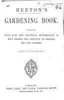 Pdf Beeton's Gardening Book ... Illustrated