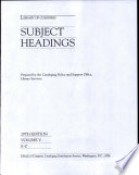 Library of Congress Subject Headings Book PDF
