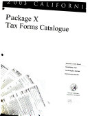 California Package X Tax Forms Catalogue