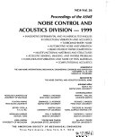 Proceedings Of The ASME Noise Control And Acoustics Division