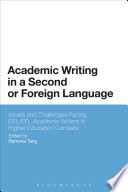 Academic Writing In A Second Or Foreign Language