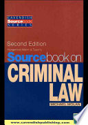 Sourcebook Criminal Law