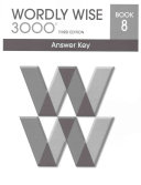 Wordly Wise 3000 Grade 8 Answer Key Book