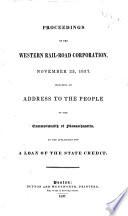 Proceedings of the Western Rail-road Corporation, November 23, 1837