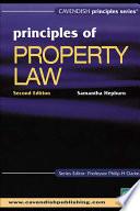 Principles Of Property Law Book PDF