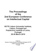 Ecic2009 2nd European Conference On Intellectual Capital Book PDF