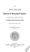 The New England Historical   Genealogical Register and Antiquarian Journal Book
