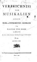 Verzeichniss von Musikalien welche in der Falterschen Musikhandlung zu München, ... zu haben sind
