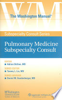 The Washington Manual Pulmonary Medicine Subspecialty Consult Book PDF