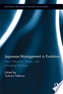 Japanese Management In Evolution