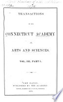 Transactions of the Connecticut Academy of Arts and Sciences Book