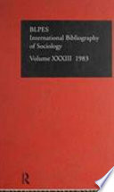 Bibliographie Internationale De Sociologie 1983