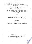 A Handy Book Of Synonymes Of Words In General Use Book PDF