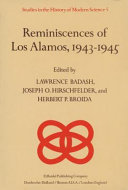 Reminiscences of Los Alamos 1943   1945