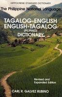 Tagalog English  English Tagalog Dictionary