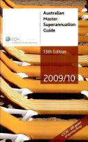 Cover of Australian Master Superannuation Guide 2009/10
