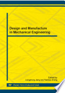 Design And Manufacture In Mechanical Engineering Book PDF