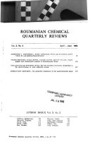 Roumanian Chemical Quarterly Reviews