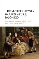 Pdf The Secret History in Literature, 1660-1820