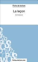 Pdf La leçon d'Eugène Ionesco (Fiche de lecture) Telecharger