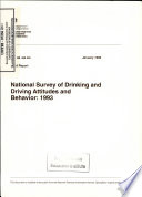 National Survey of Drinking and Driving Attitudes and Behavior  1993