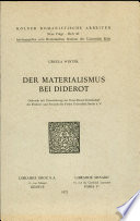 Der Materialismus bei Diderot