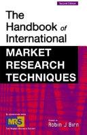The Handbook of International Market Research Techniques Book