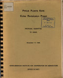 PWOJE PLANTE KAFE Coffee Revitalization Project PROPOSAL SUBMITTED TO USAID November 17, 1989