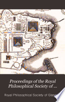 Proceedings of the Royal Philosophical Society of Glasgow Book