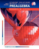 Student Solutions Manual for Mckeague s Prealgebra  5th