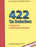 422 Tax Deductions For Businesses Self Employed Individuals Book