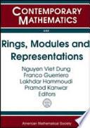 Rings  Modules  and Representations