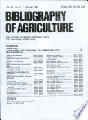 Bibliography of Agriculture  , Band 56