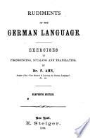 Rudiments of the German Language