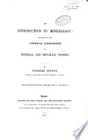 An introduction to mineralogy Book