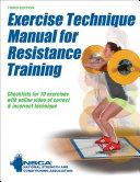 Exercise Technique Manual for Resistance Training Pdf/ePub eBook