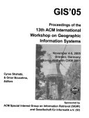 Proceedings of the     ACM Symposium on Advances in Geographic Information Systems