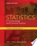 Cover of Statistics in Criminology and Criminal Justice