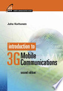 Introduction to 3G Mobile Communications Book