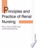 Principles and Practice of Renal Nursing Book
