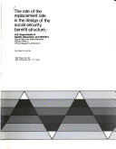 The Role of the Replacement Rate in the Design of the Social Security Benefit Structure