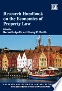 Research Handbook on the Economics of Property Law Book