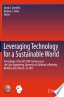 Leveraging Technology for a Sustainable World Book