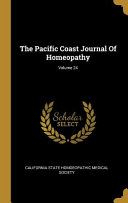 The Pacific Coast Journal Of Homeopathy